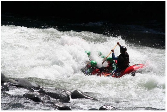 White-water rafting in Tongariro River